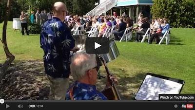 Dave Holmstrand Joe Braccio - Caladesi Steel Band Pan / Guitar Duo at a wedding ceremony at Tampa Bay Watch