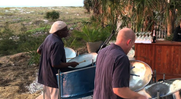 Johnny and Dave playing steel drums on Clearwater Beach