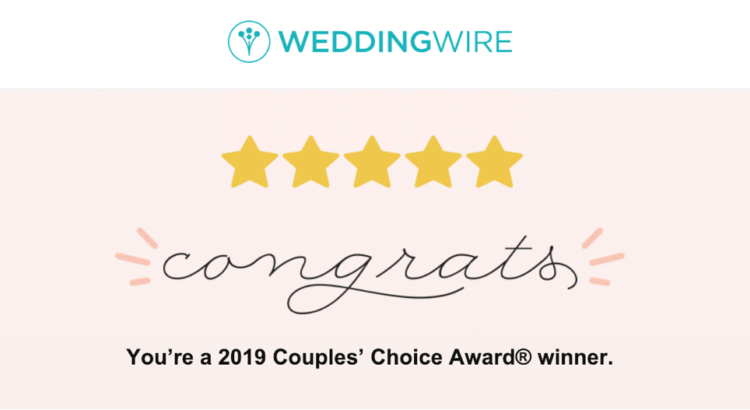 2019 WeddingWire Couple's Choice Award!