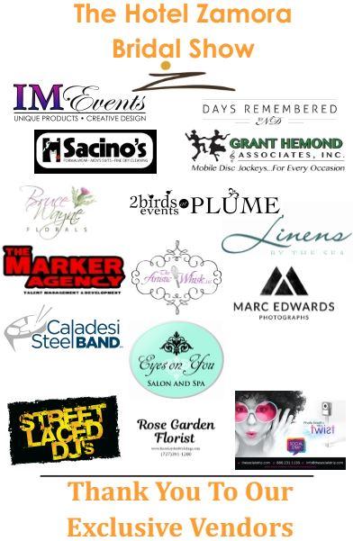 Hotel Zamora Bridal Show Sponsors